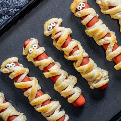 socially-distant-halloween-partake-foods-mummy-dogs