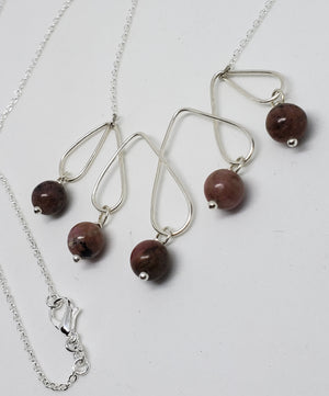 Imperial Jasper drop bead necklace