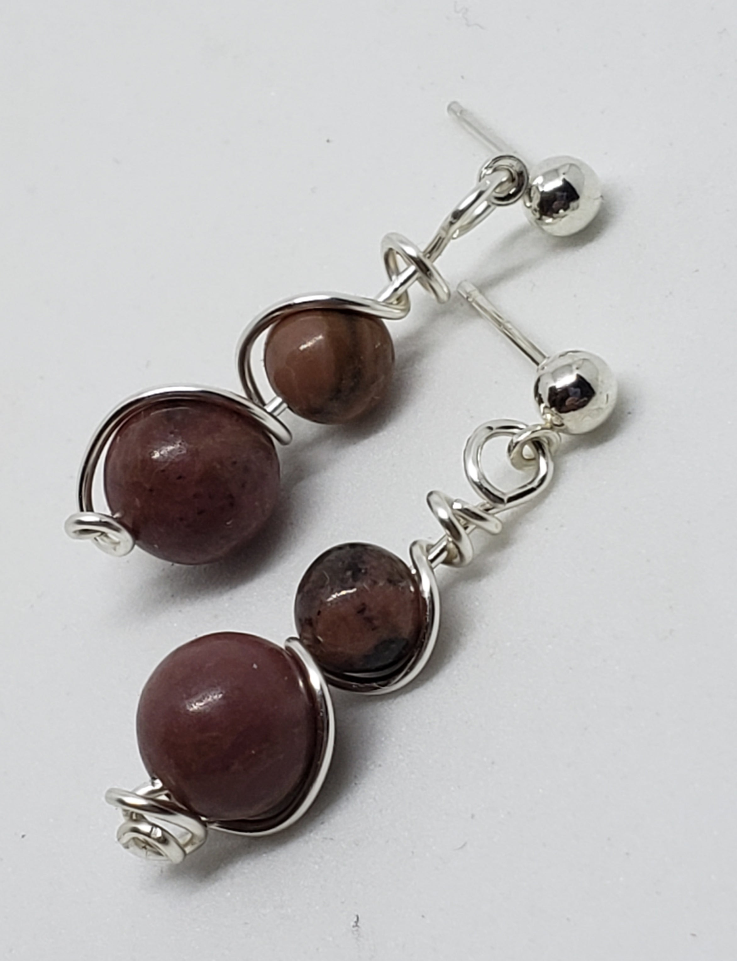 Imperial Jasper drop earrings