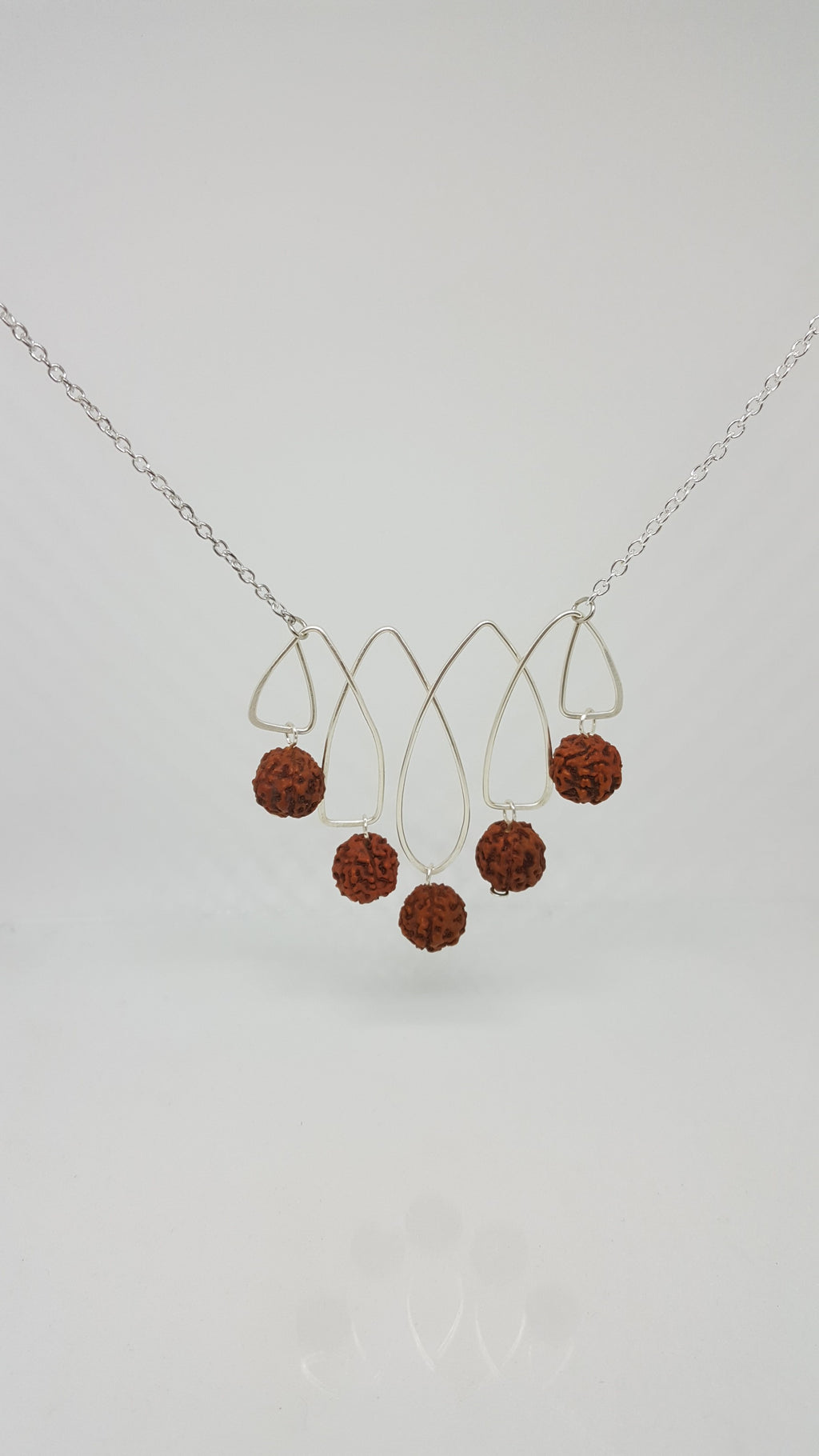 Rosewood bead necklace