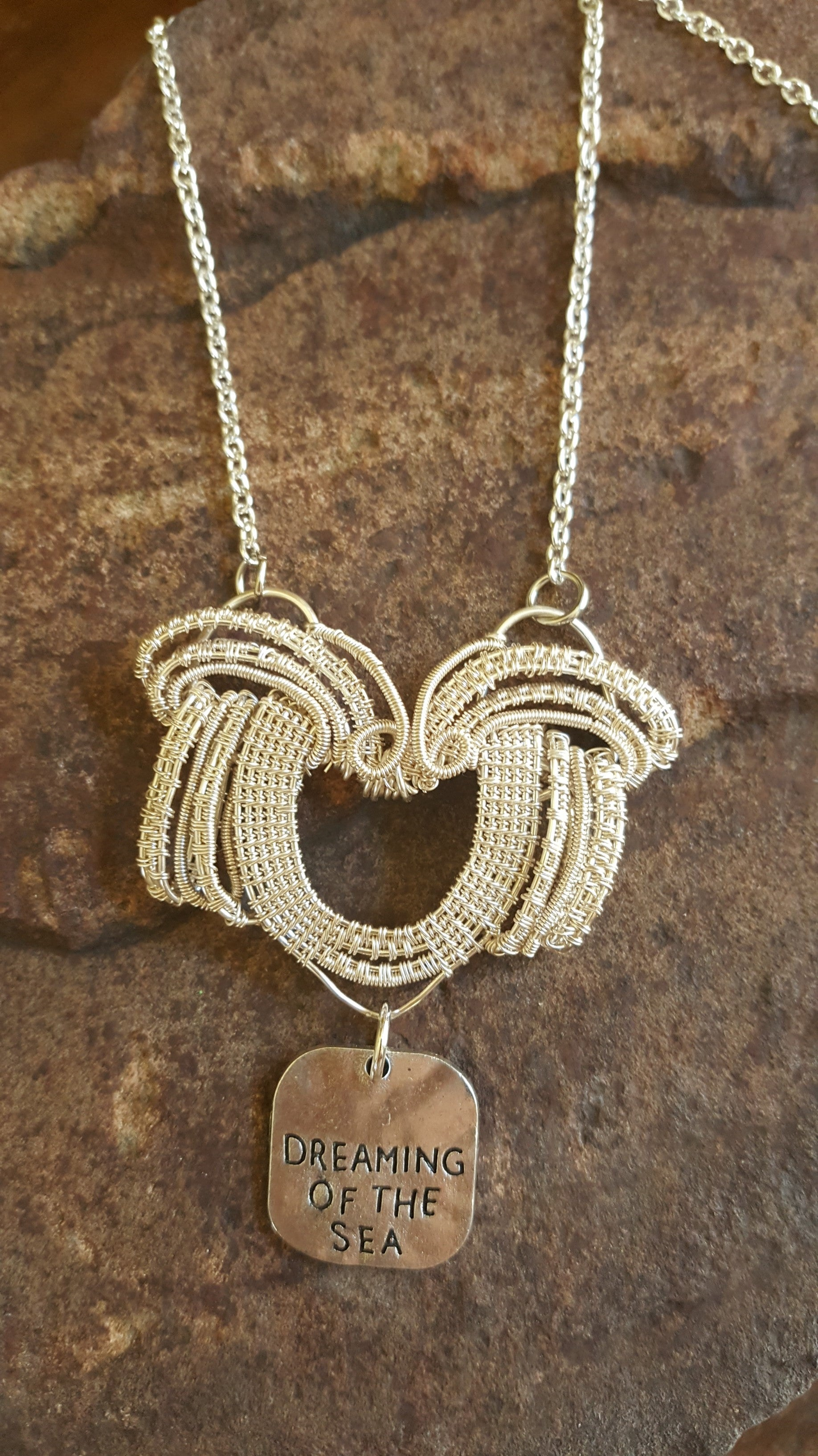 A lovely Dreaming of the Sea woven necklace