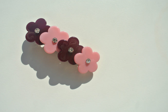 Charlotte Pink and Burgundy Clip