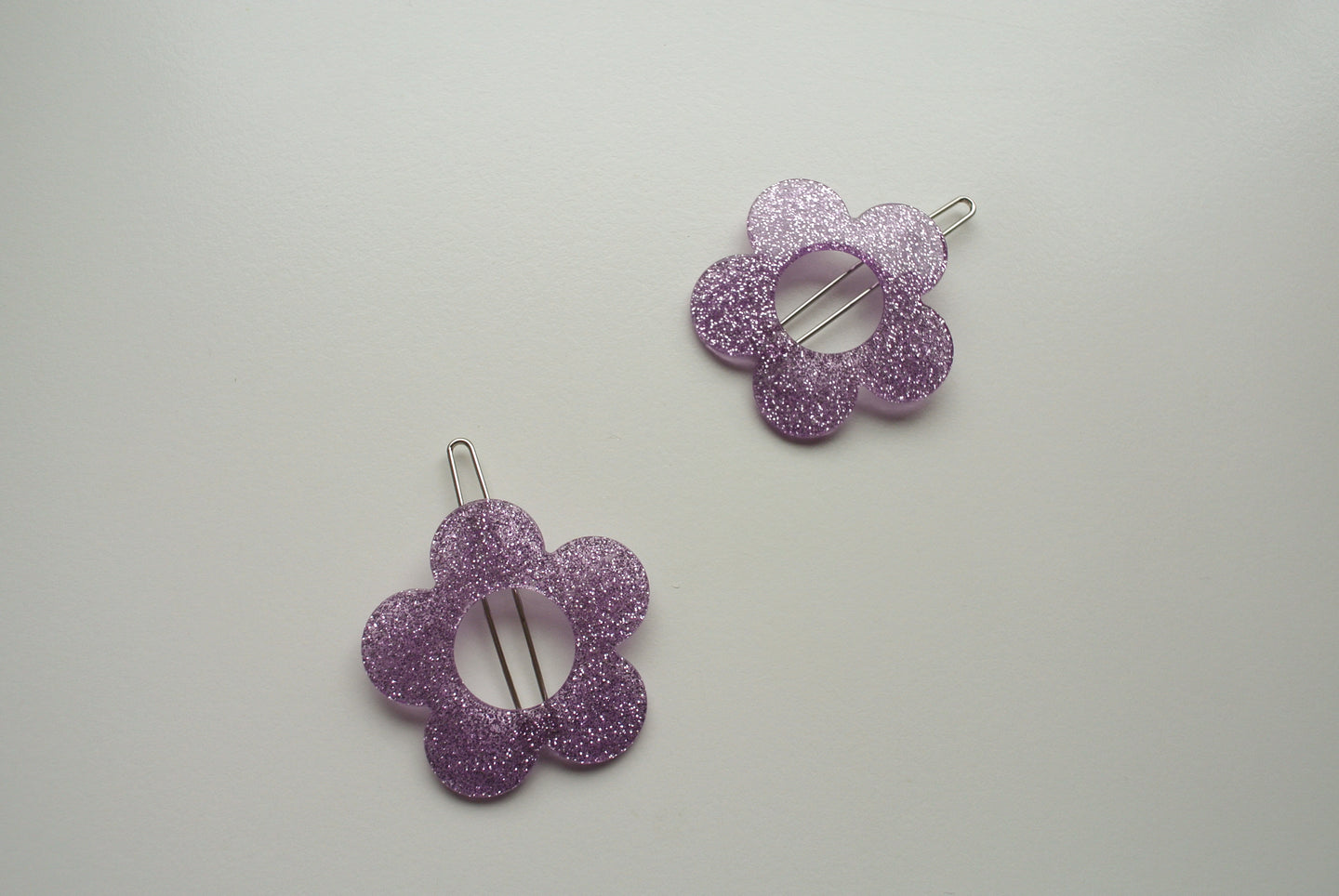 Margherita Purple Glitter Clip - Margherita