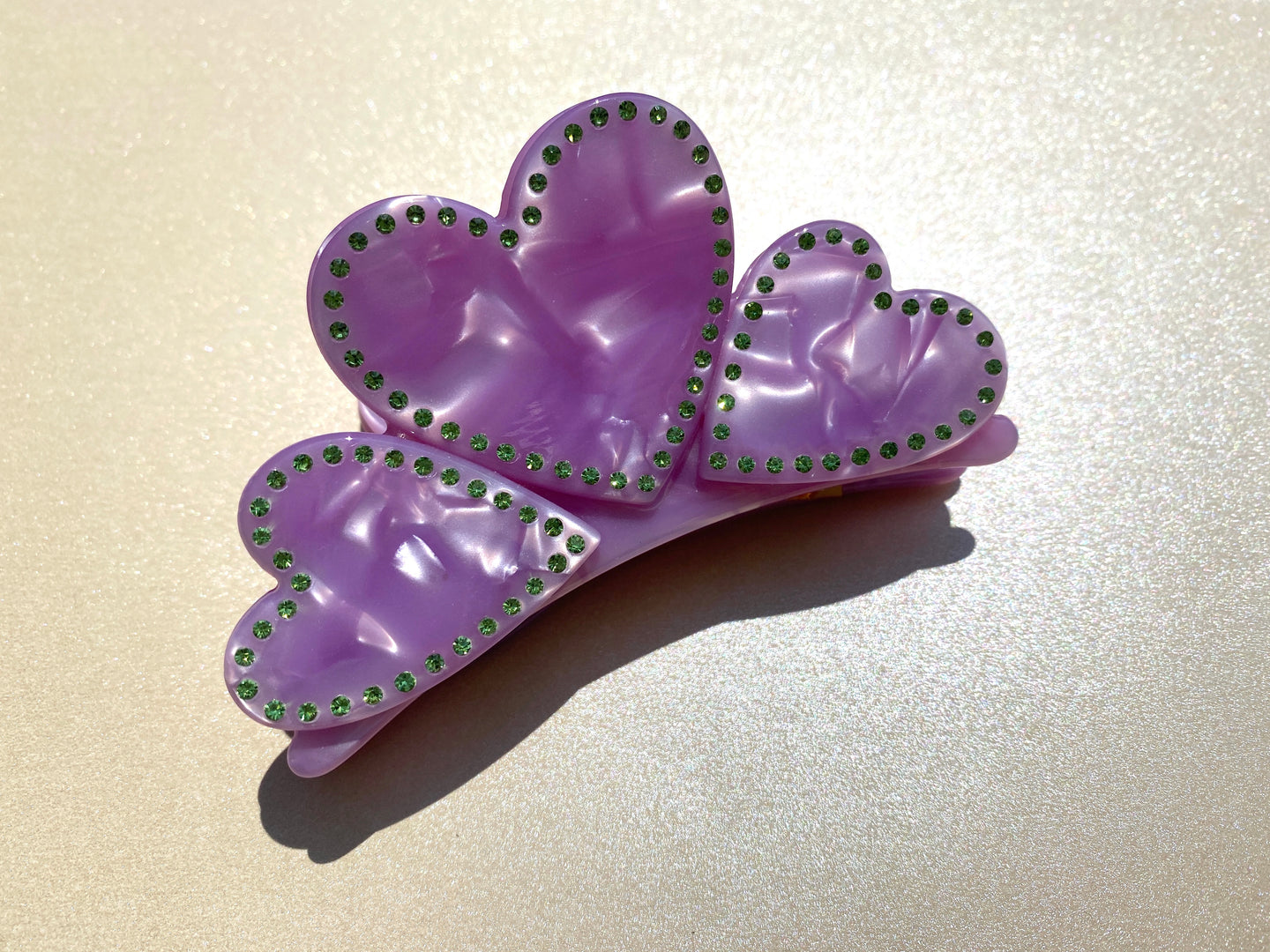 Grace Lilac Heart Claw