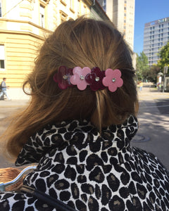 Charlotte Pink and Burgundy Clip - Margherita