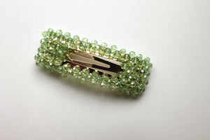 Daphne Green Crystal Snap Clip Set Of Two - Margherita