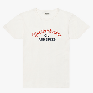 Knickerbocker 'Oil and Speed' Tee (Milk)