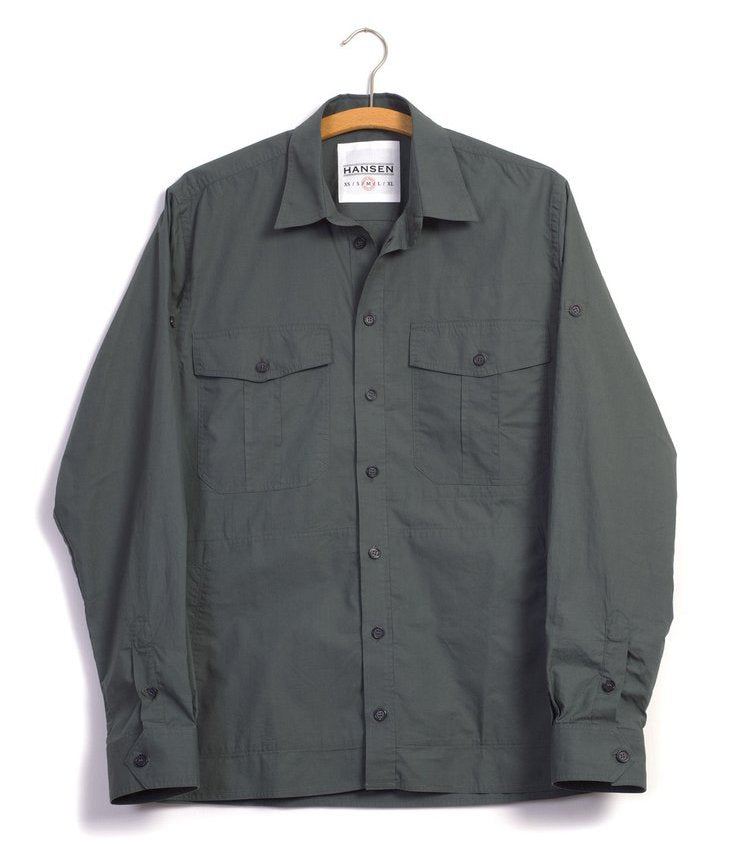 Hansen Lightweight 'Steven' Shirt (Faded Army)