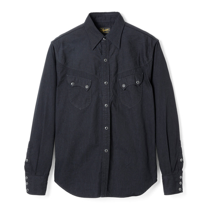 Stevenson Overall Co. 'Cody' Shirt (Black Denim)