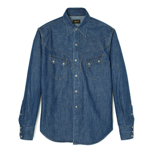 Stevenson Overall Co. 'Cody' Shirt (Faded Indigo)