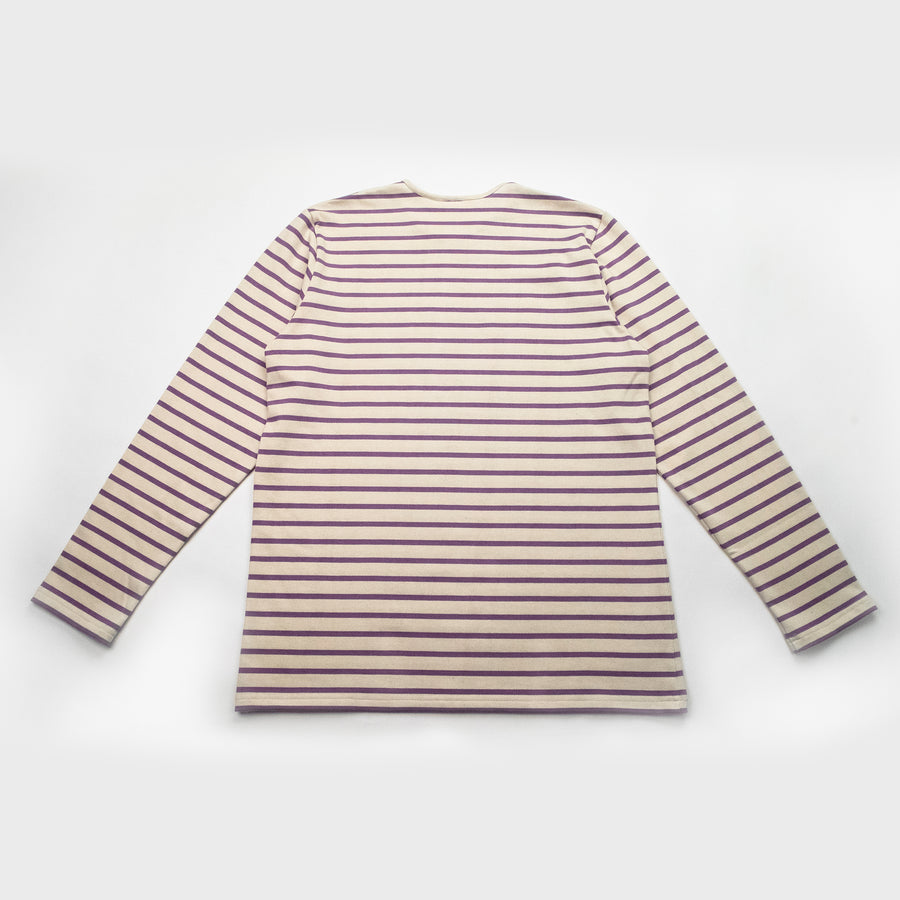 Forge Denim Breton Long Sleeve (Ecru/Mauve)