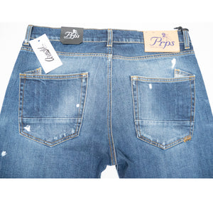 PRPS 'Windsor' Cropped Jean (Dark White Painted Wash)
