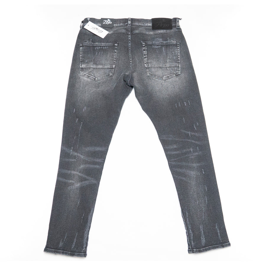 PRPS 'Windsor' Cropped Jean (Dark Destroy Wash)