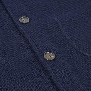 Work Jacket In Merino Milano (Navy)