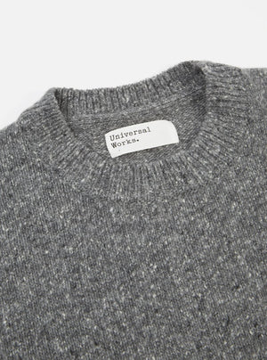 Universal Works Loose Crew (Grey Fleck)