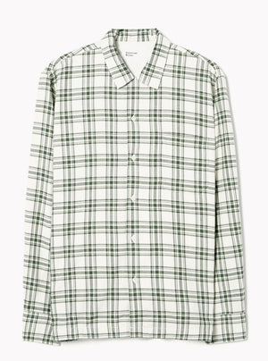 Universal Works Garage Shirt (Ecru/Green)