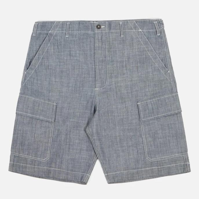 Universal Works Chambray Cargo Shorts (Indigo)