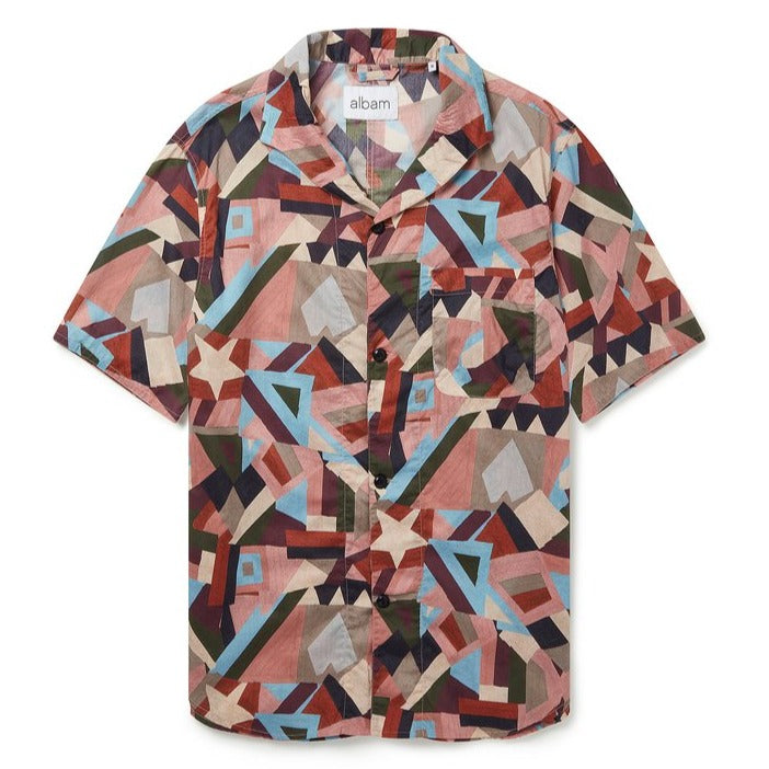 Albam SS Miles Shirt in Pastel Aerial Print