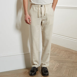 Oliver Spencer Drawstring Trousers (Cream)