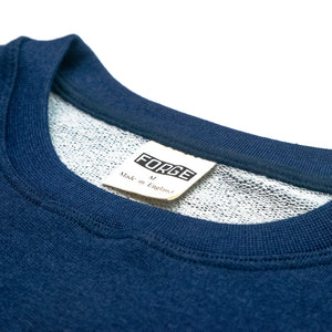 Forge Denim Sweatshirt (Indigo with Yellow Logo)