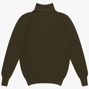 Knickerbocker Heavy Rib Turtleneck (Olive)