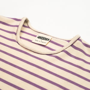 Forge Denim Breton Short Sleeve (Ecru/Mauve)