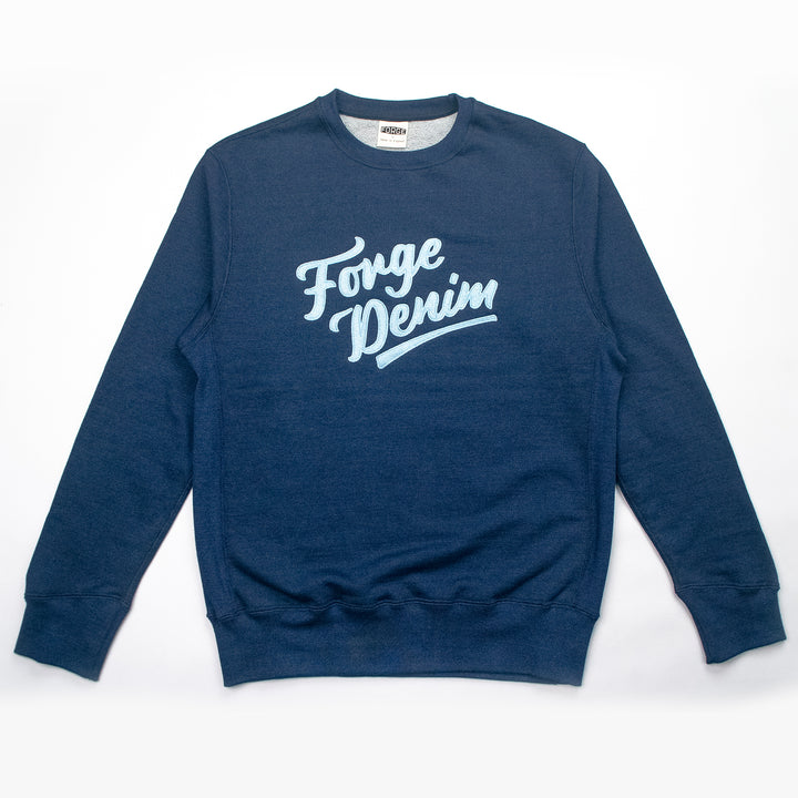 Forge Denim Sweatshirt (Indigo with Pale Blue Logo)