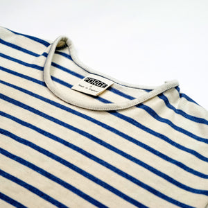 Forge Denim Breton Short Sleeve (Ecru/Denim Blue)