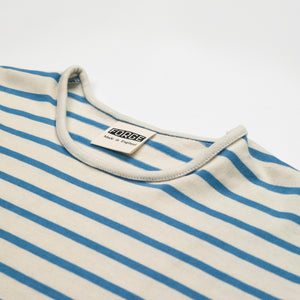 Forge Denim Breton Long Sleeve (Ecru/Sky Blue)