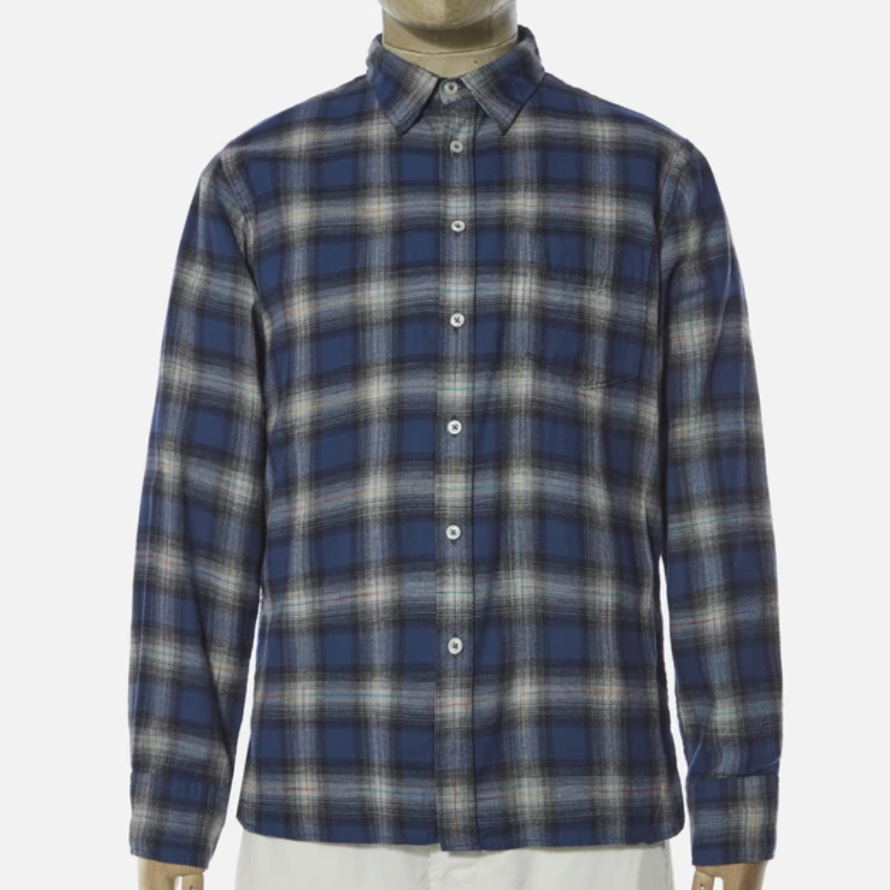 Universal Works New Standard Shirt (Blue Check)