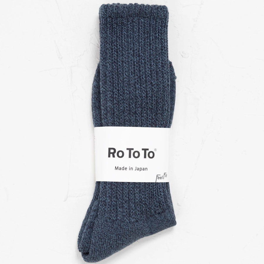 Rototo Loose Pile Socks (Navy)