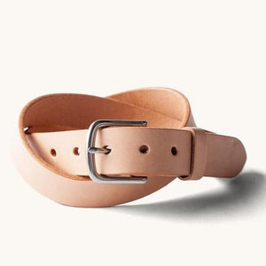 Tanner Goods Classic Belt (Natural / Brushed Steel)