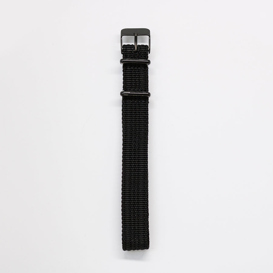 Navi Watch Strap C - Ballistic Nylon Black