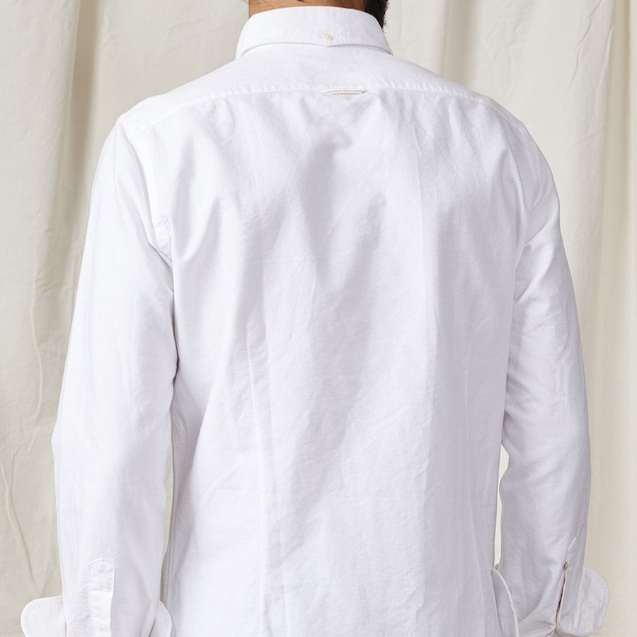 A.B.C.L. BD Selvedge Oxford Shirt (White)