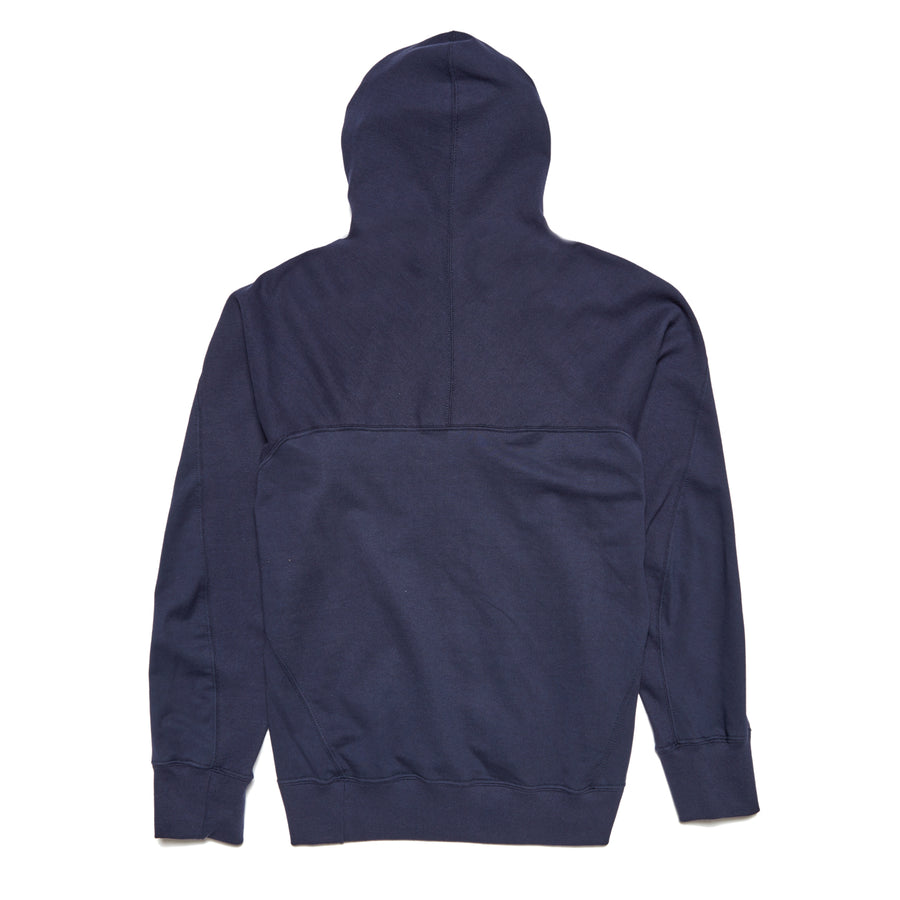Forge Denim Ribbed Hoodie (Navy)