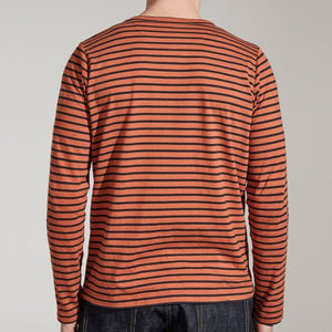 TWC Breton Long Sleeve Tee (Orange/Navy)