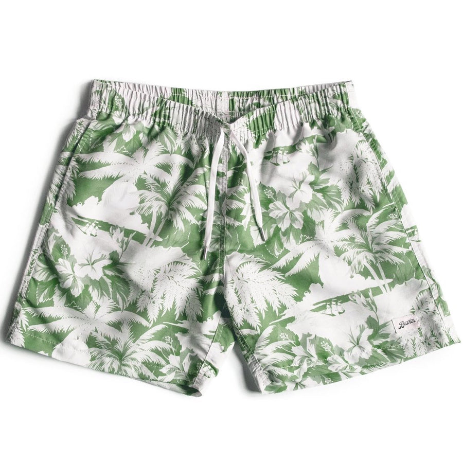 Bather Aloha Swim Trunk (Green)