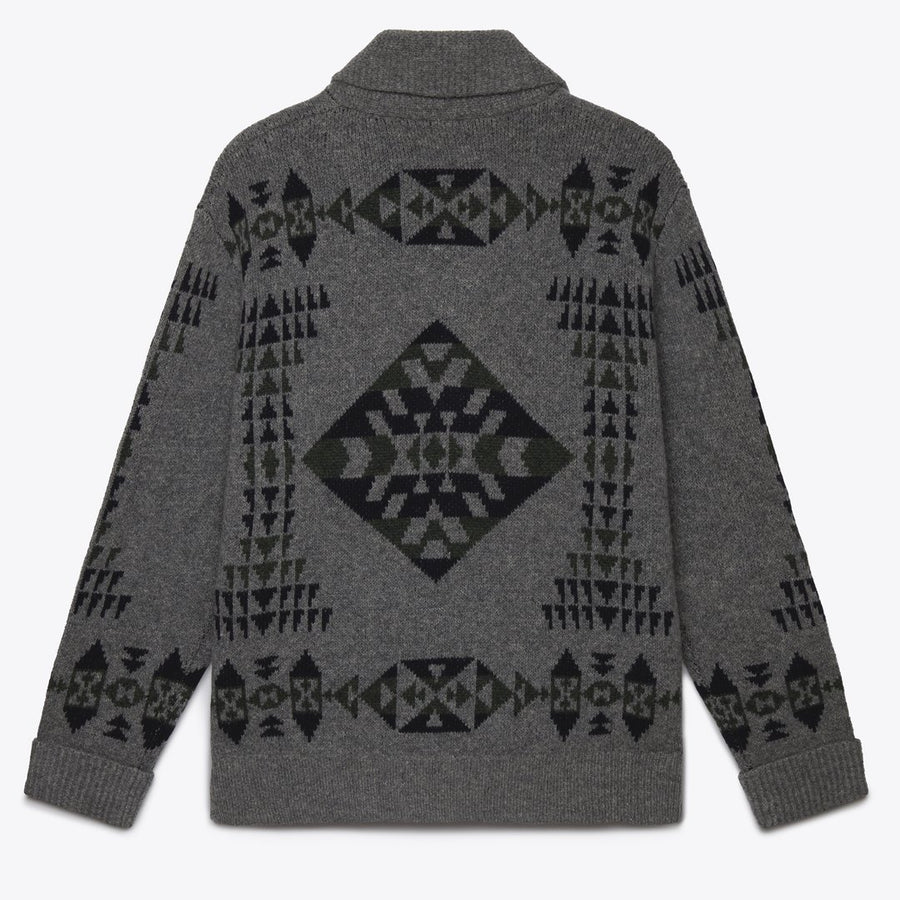 Pendleton Basket Maker Zip Cardigan (Grey)