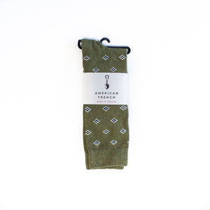 American Trench Diamonds Socks (olive)
