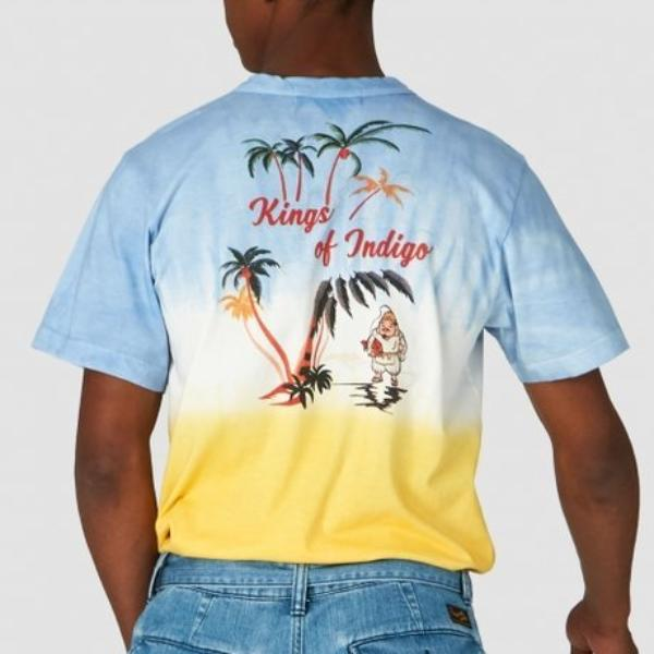 King of Indigo Darius Tee (Blue Lemon Tie Dye)