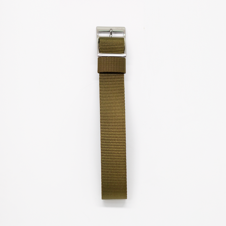 Pioneer Watch Strap F - Military Grosgrain Green
