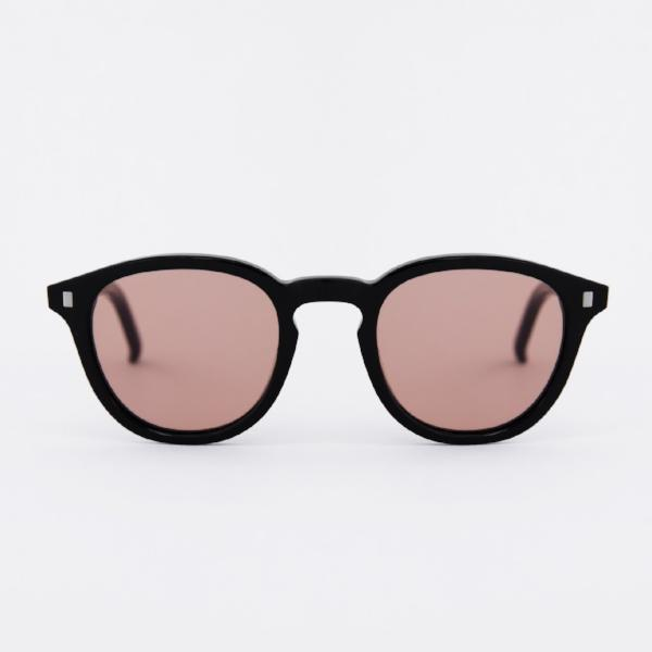 Monokel 'Nelson' (Nelson Black - Solid Orange Lens)