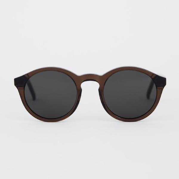 Monokel 'Barstow' (Cola - Solid Grey Lenses)