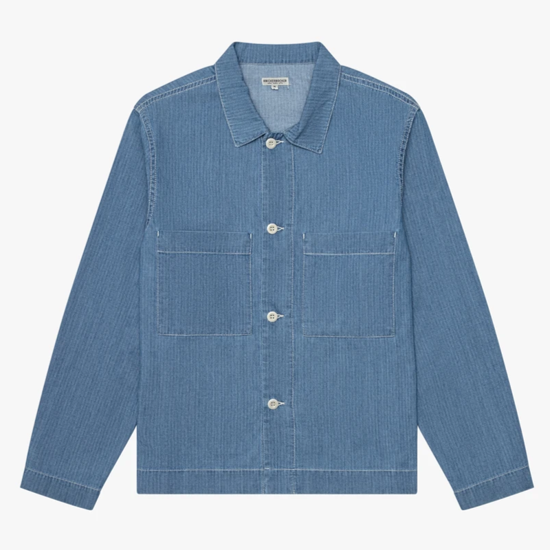 Knickerbocker Chore Shirt (Stonewash Fisher Stripe)