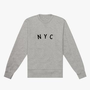 Knickerbocker NYC Gym Crew Fleece (Heather Grey)