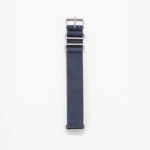 Pioneer Watch Strap B - Stone washed Blue Leather