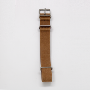 Pioneer Watch Strap A - Stone washed Brown Leather