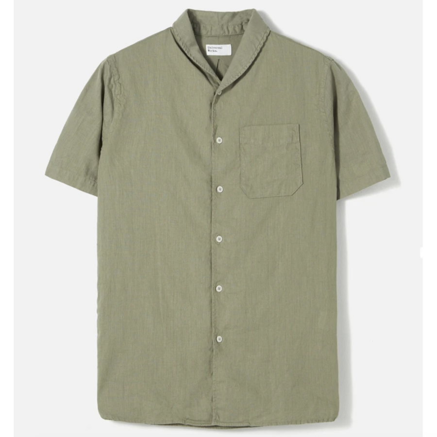 Universal Works Shawl Collar Shirt (Laurel)