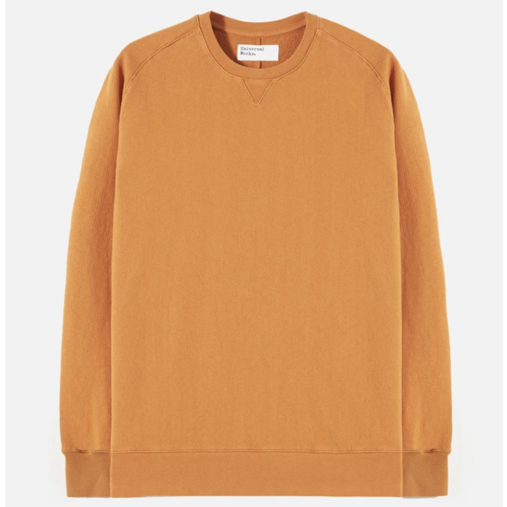 Universal Works Crew Sweatshirt (Orange)