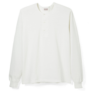 Stevenson Overall Co. Long Sleeve Henley (White)